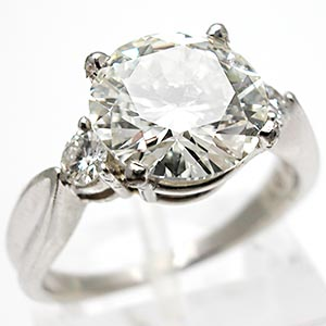 Estate 2.51CT Diamond Engagement Ring Solid Platinum