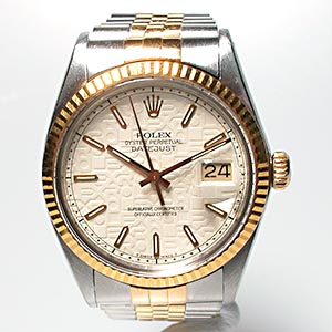 Rolex Datejust Mens Watch Steel & 18K Gold 16013 1985