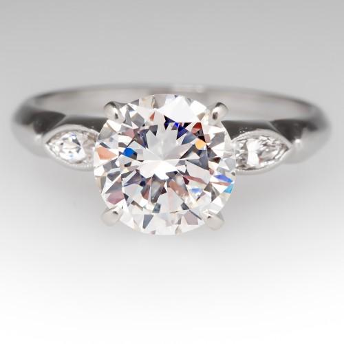 Vintage 2 Carat Diamond Seattle Engagement Ring