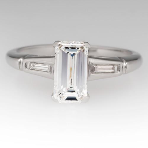 Emerald Cut Diamond 1950's Vintage Seattle Engagement Ring
