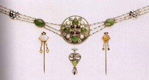 Girdle, pins and pendant, 1906 silver and semi-precious stones Photo Credit: Pre Raphaelite Art Blog