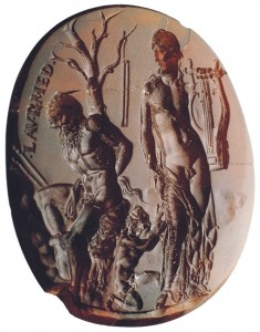 'Apollos, Maryas and Olympus,' Carnelian Intaglio Image copyright Naples, National Archaeological Museum.