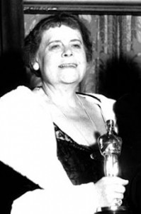 """Marie Dressler Wins Best Supporting Actress in 1930 for her performance alongside Greta Garbo in """"Anna Christie."""" Photo Credit: Mythical Monkey Blog."""