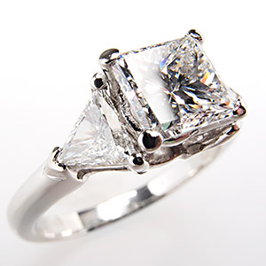 This Striking Princess Cut Diamond Engagement Ring EraGem Post