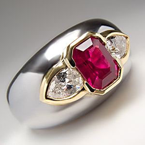BVLGARI Ruby & Diamond Cocktail Ring