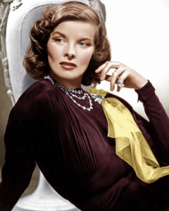 "Katharine Hepburn Wears a custom Paul Flato Brooch in ""Holiday."""