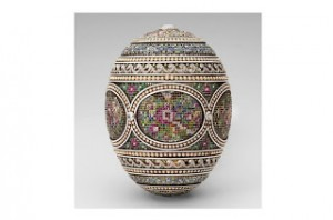Mosaic Easter Egg by Peter Carl Faberge, 1914. The Royal Collection, copyright 2012, HM Queen Elizabeth II. Photo Source: History Extra Magazine.