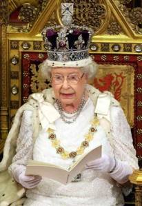 Queen Elizabeth II wears the State Imperial Crown at the State Opening of Parliament. Photo Credit: The Royal Firm.
