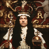 Rufus Sewell playing Charles II at his coronation. Photo Credit: h2g2.com.