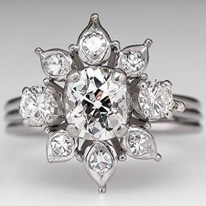 Get the Look! with this Vintage Old Mine Cut Diamond Engagement Ring. Photo © 2014 EraGem Jewelry.