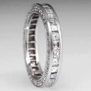 Diamond Eternity Band in Platinum. Photo © EraGem Jewelry
