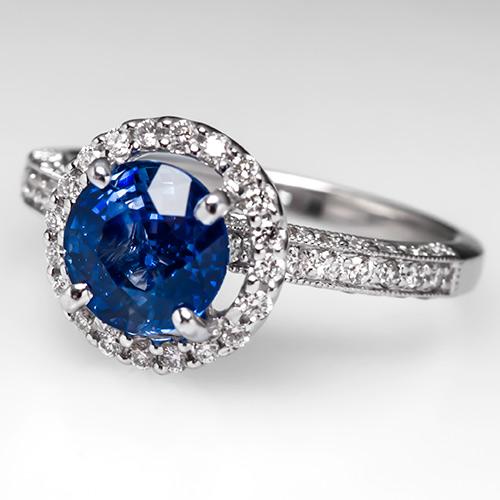 sapphire-halo-ring