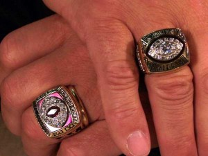 Joe Theismann's Super Bowl and Conference Ring. Photo is in the public domain.