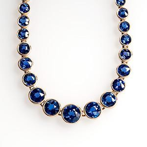 This necklace and its matching bracelet feature 108 rare Yogo Gulch Montana sapphires. Photo © 2014 EraGem Jewelry.