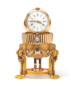 Faberge Egg with Clock, ©Wartski. Photo used with permission.