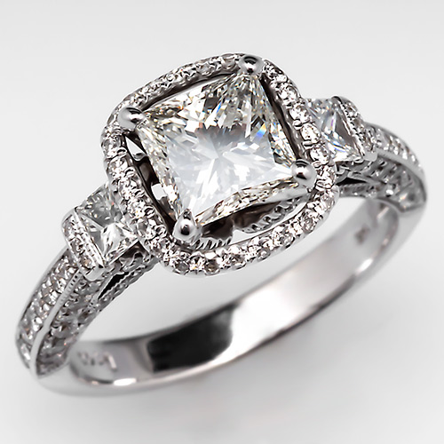 45b6cb1a90 Get the Look! with this F VS1 Princess Cut Diamond Engagement Ring. Photo
