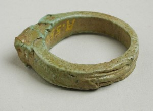 A Shen Ring from Egypt, Ptolemaic Period (1569-31 BCE). On view at the Los Angeles County Museum of Art. Photo Public Domain.