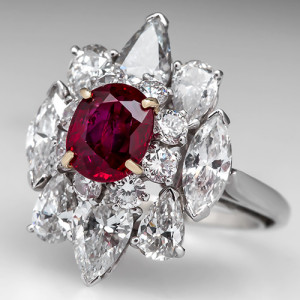 Capture the Romance! with this Vintage Van Cleef & Arpels Diamond and Ruby Ring. Photo ©2014 EraGem Jewelry.