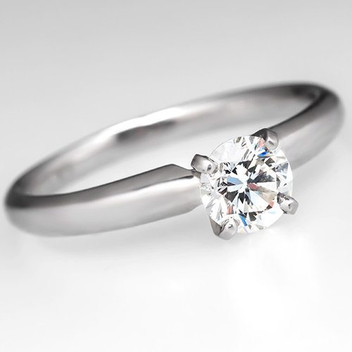 Capture The Essence Of Ice Diamonds Canada With This Ikuma Diamond Solitaire Engagement