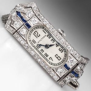 Capture the Essence! of American Watchmaking with this 1920s Art Deco Waltham Watch. Photo ©2014 EraGem Jewelry.