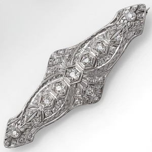 Antique Art Deco Diamond Brooch