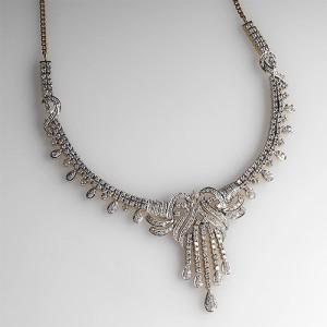 Fancy Link 5-Carat Diamond Necklace