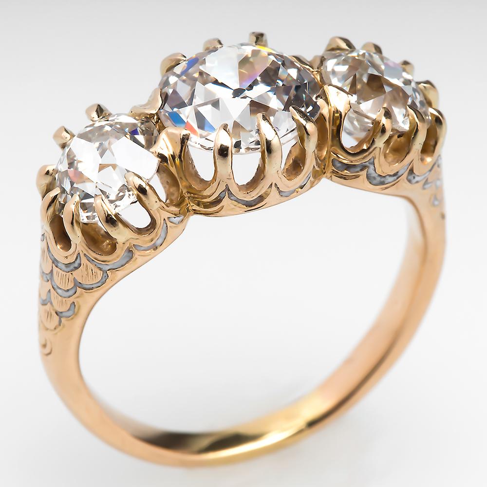 Carat Three Stone Diamond Ring