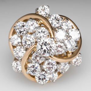 Capture the Essence! of Johnathon Arndt's Dazzling Diamonds with this 3.5-Carat Diamond Cocktail Ring. Photo ©2014 EraGem Jewelry.