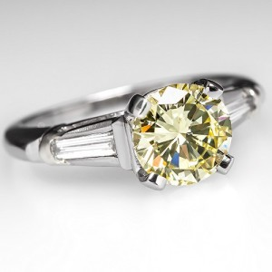 Capture the Essence! of Yellow Diamonds with this Fancy Yellow Diamond Engagement Ring. Photo ©2014 EraGem Jewelry.
