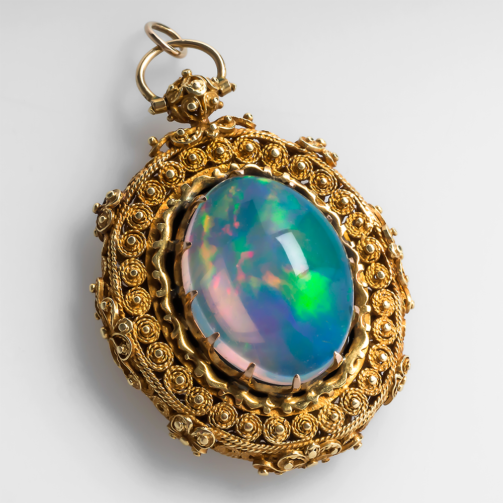 erie black opal locket lockets basin