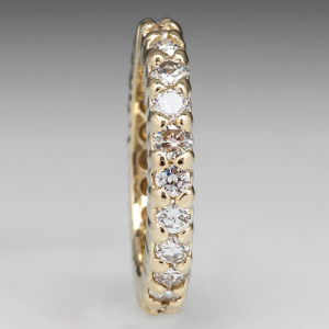 Capture the Essence! of Jessica Biel's Wedding Bands with this Diamond Eternity Wedding Band in 18k Gold. Photo ©2014 EraGem Jewelry.
