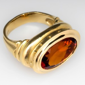 Capture the Essence! of Madeira Wine with this Seidengang Madeira Citrine Cocktail Ring in 18k Gold. Photo ©2014 EraGem Jewelry.