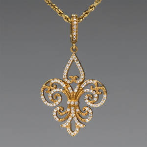 Capture the Essence! of LeAnn Rimes' love of fleur-de-lis with this Rhonda Faber Green Diamond Pendant Fleur-de-Lis. Photo ©2014 EraGem Jewelry.