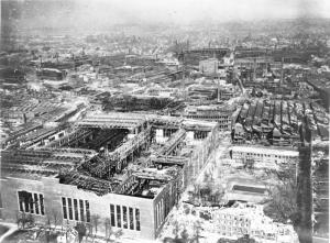 Devastated Krupp Works in Essen, taken before the city was occupied by the US Army in 1945.