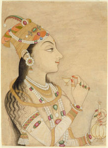 Idealized Portrait of the Mughal Empress Nur Jahan (1577-1645), circa 1725-1750, wife of Jahangir