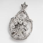Vintage Teardrop Diamond Brooch