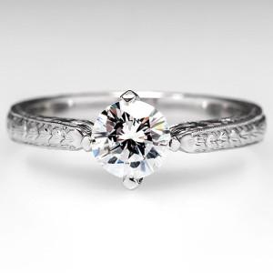 Designer Spotlight: Michael Barin's Elegant Diamond and Platinum Engagement Ring. Photo ©2015 EraGem Jewelry.