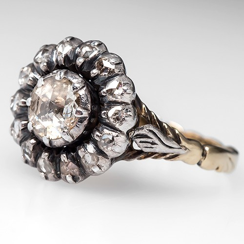 A rare Georgian Era diamond engagement ring similar. This ring is similar in style to the antique engagement ring Maggie Grace received from Matthew Cooke in February 2015. Photo ©2015 EraGem Jewelry.
