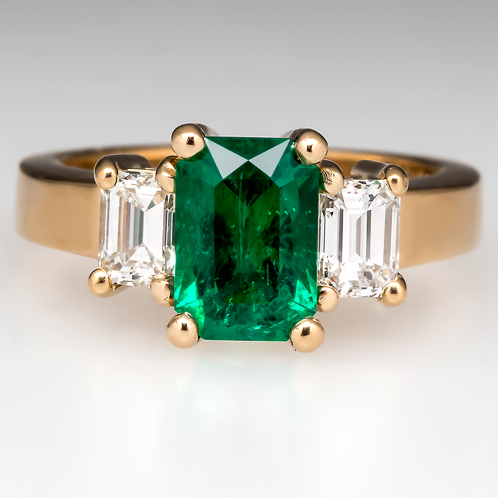 Emerald Engagement Rings Gold