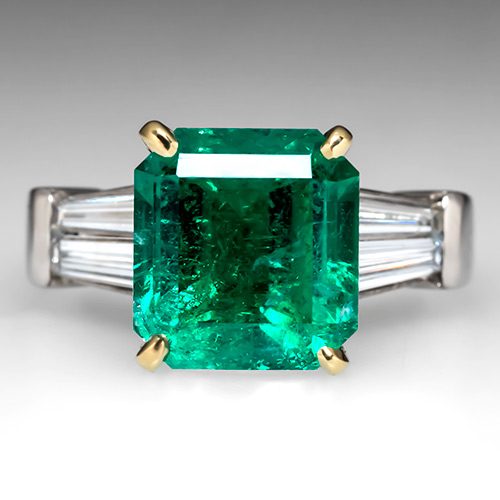 natural emerald engagement rings