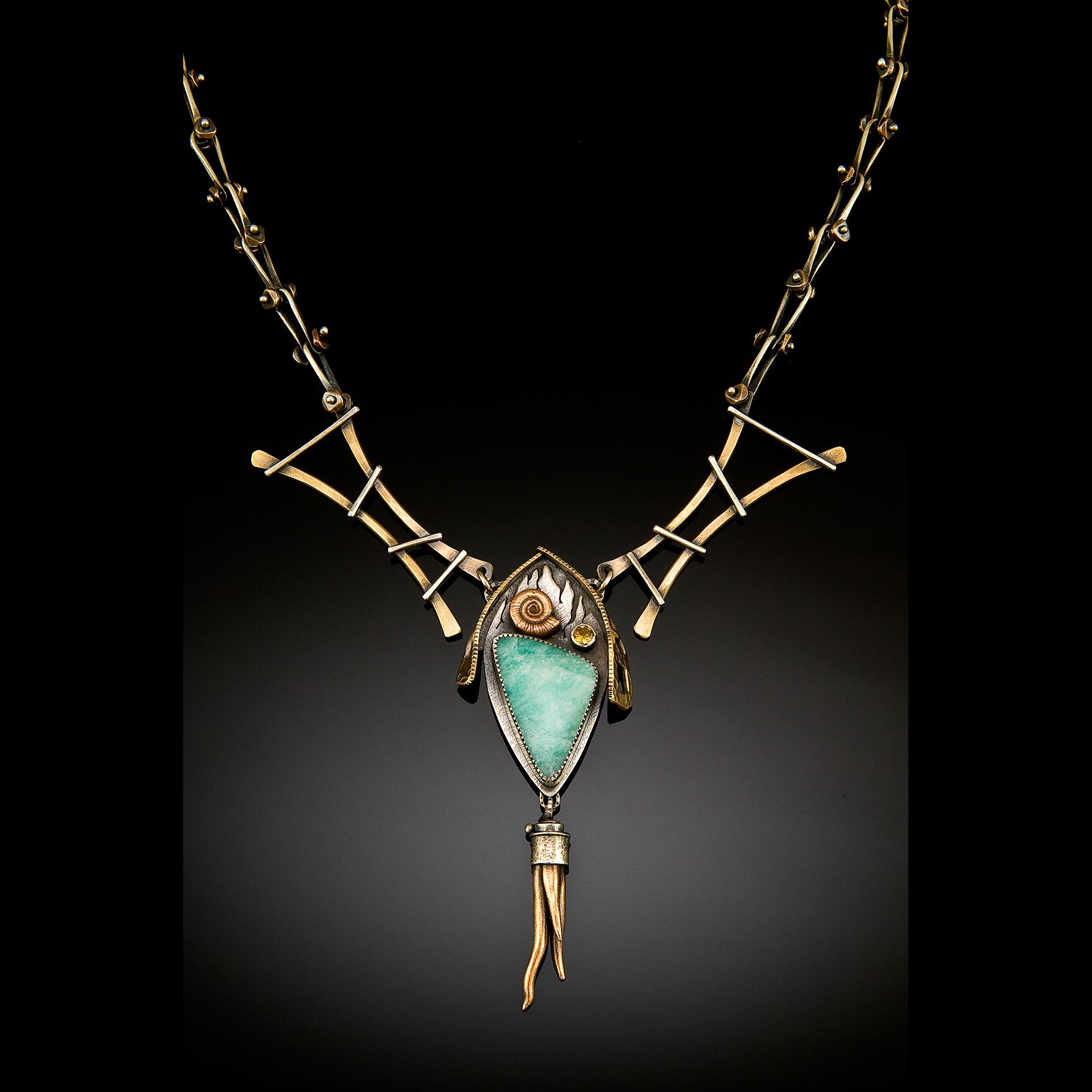 Pacific Northwest Jewelry Artist Una Barrett Necklace BAMArts Fair 2018