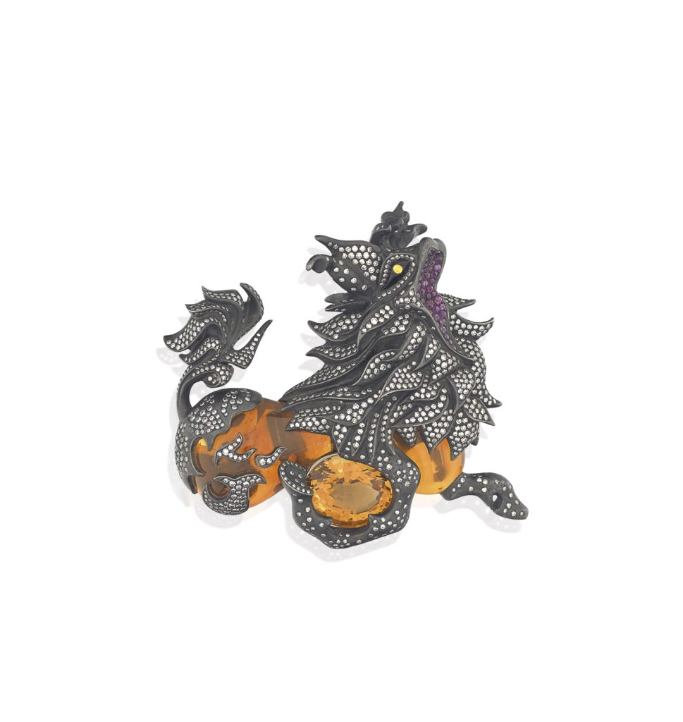 Citrine Qilin Brooch by JAR.