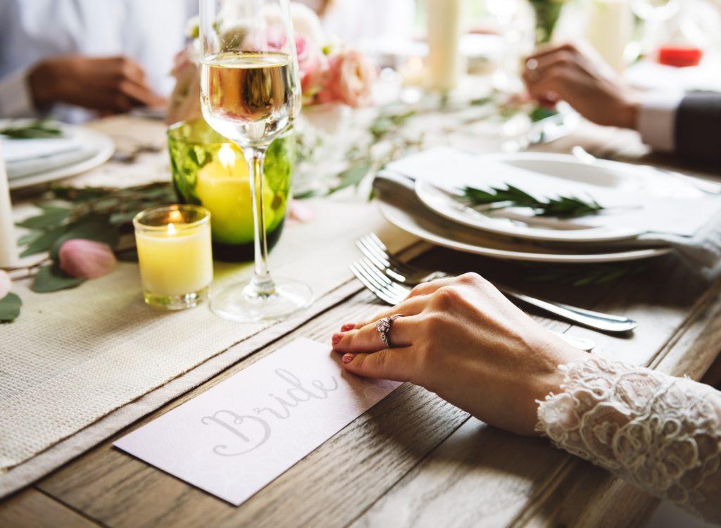Head table during a German Wedding Reception